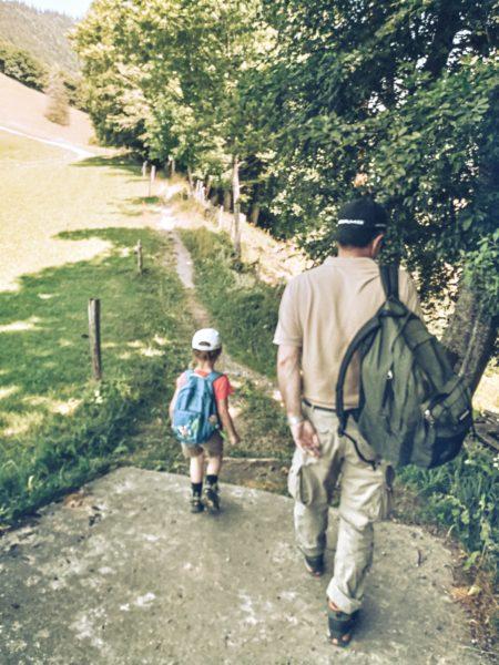 Familie auf Wanderung