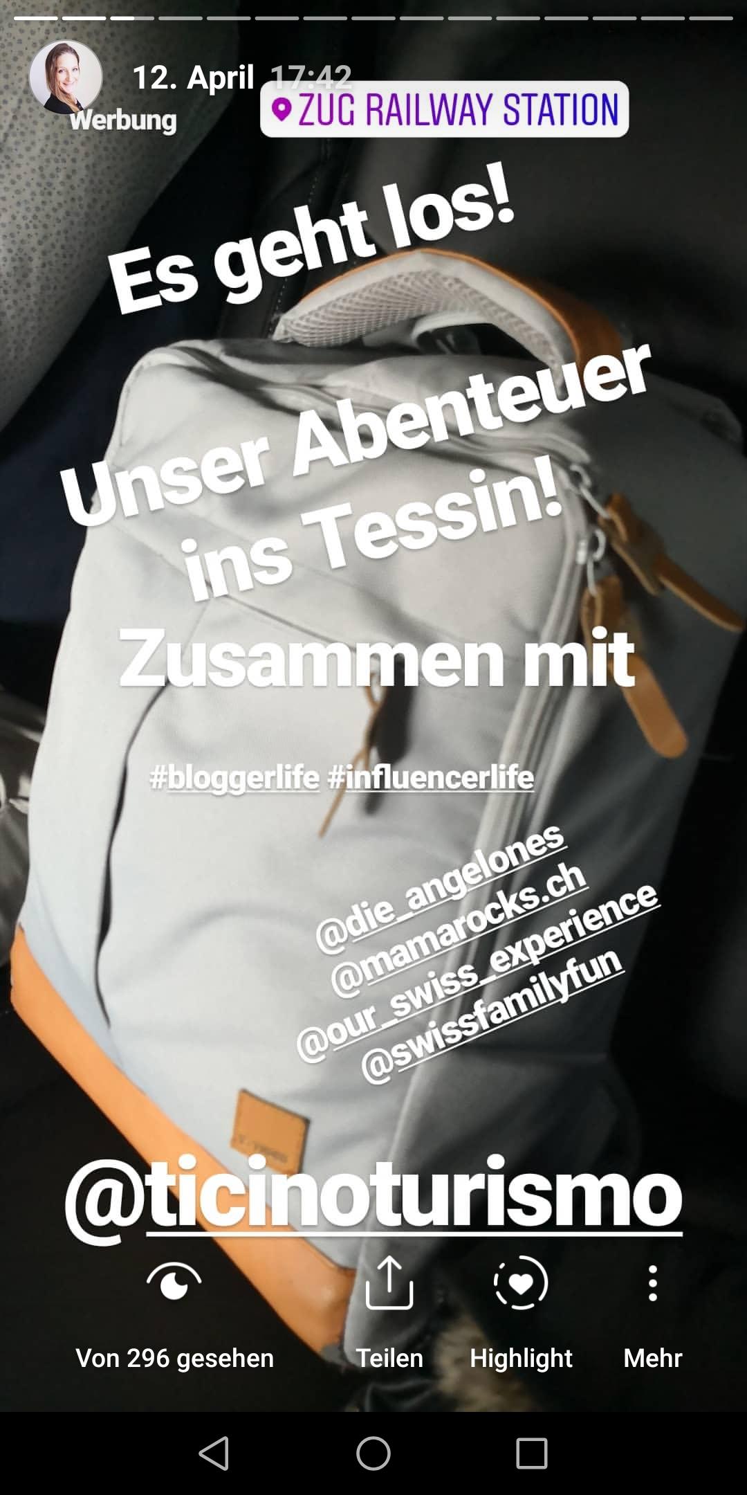Tessin Reise Instagram