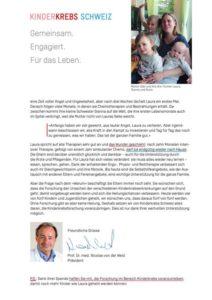Spendenbrief Kinderkrepsforschung Dachverband